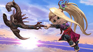 Un Espadachin Mii usando el traje de Viridi en Destino Final SSB4 (Wii U)