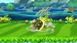 Ataque Smash hacia abajo de Bowser (1) SSB4 (Wii U)