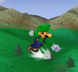 Ataque aéreo hacia adelante de Luigi SSBM