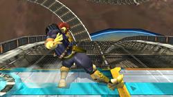Ataque fuerte hacia arriba Captain Falcon SSBB (2)