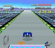 Blue Falcon en Mute City I de F-Zero (Super Nintendo)