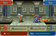 Golpe critico de Roy en Fire Emblem The Binding Blade