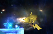 Pikachu dañado por esfera aural SSBB