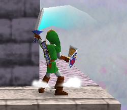 Ataque Smash hacia arriba de Link (1) SSB