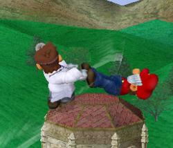 Lanzamiento trasero de Dr. Mario (1) SSBM
