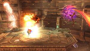 Ridley Triple bola de fuego (2) SSB4 (Wii U)