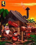 Artwork de la casa de Cranky Kong en Donkey Kong Country