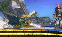 Ataque fuerte hacia abajo Lucina SSB4 (3DS)