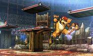 Bowser y Samus en el Coliseo de Regna Ferox SSB4 (3DS)