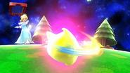 Estela haciendo girar al Destello SSB4 (Wii U)