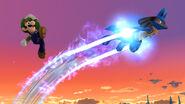 Lucario usando Velocidad Extrema en SSB4 (Wii U)