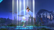 Palutena usando Luz Celestial SSB4 (Wii U)