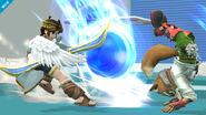 Sonic Pit y Fox en la zona de entrenamiento SSB4 (Wii U)