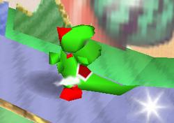 Ataque Smash hacia abajo de Yoshi (1) SSB