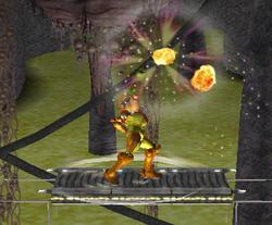 Ataque Smash hacia arriba de Samus (1) SSBM