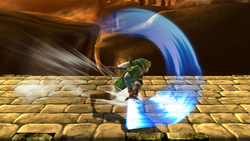 Ataque Smash lateral de Link (1) SSB4 (Wii U)
