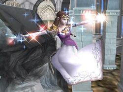 Ataque aéreo normal Zelda SSBB