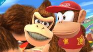 Diddy Kong y Donkey Kong en Ciudad Smash SSB4 (Wii U)
