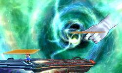 Master Hand Lanzamiento de cartas SSB4 (3DS)