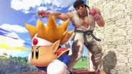 Ryu junto a Knuckle Joe SSBU