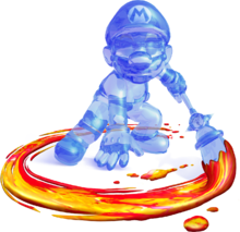 Artwork de Mario Oscuro en Super Mario Sunshine