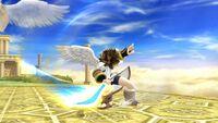 Ataque Smash lateral (1) Pit SSB4 Wii U
