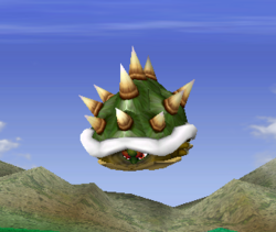 Ataque aéreo normal de Bowser SSBM