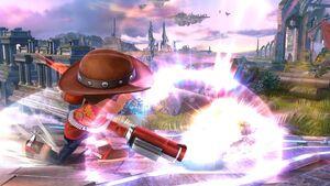 Ataque fuerte hacia abajo Tirador Mii SSB4 Wii U