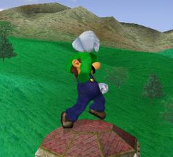 Ataque fuerte hacia arriba de Luigi SSBM