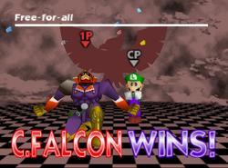 Pose de victoria de Captain Falcon (3-2) SSB