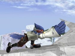 Ataque Smash Lateral Falco SSBB (2)