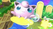 Jigglypuff montándose en una Estrella remolque SSBU