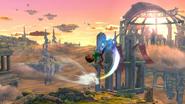 Karateka Mii usando Patada hacha (1) SSB4 (Wii U)