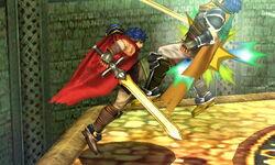 Lanzamiento hacia adelante Ike SSB4 (3DS)