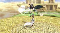Lanzamiento hacia arriba Pit SSB4 Wii U