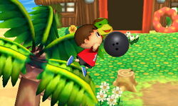 Ataque Smash lateral Aldeano (1) SSB4 (3DS)