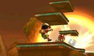 Bomba Inteligente explotando en el Campo de Batalla SSB4 (3DS)