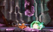 Charizard siendo atacado por un Plasma Wisp en Smashventura SSB4 (3DS)