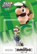 Embalaje del amiibo de Luigi (Japón)