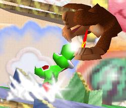 Lanzamiento delantero de Yoshi SSB
