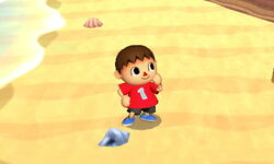 Pose de espera Aldeano (1) SSB4 (3DS)