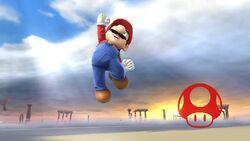 Pose de victoria hacia abajo (2) Mario SSB4 (Wii U)