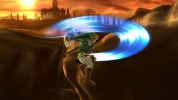 Ataque aéreo delantero de Link (1) SSB4 (Wii U)