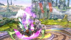 Lanzamiento hacia abajo Mewtwo SSB4 (Wii U)