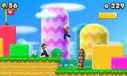 Mario y Luigi en un nivel de New Super Mario Bros 2