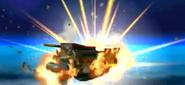 Nave de Bowsy explotando en Super Mario Galaxy