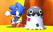 Sonic junto a Spewpa SSB4 (3DS)