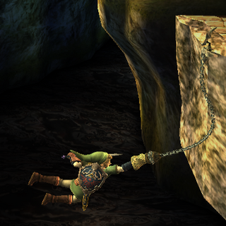 Link usando su Agarre Aéreo como una recuperación con cuerda en <i><a href=