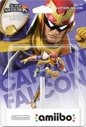 Embalaje del amiibo de Captain Falcon