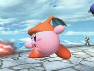 Kirby usando Lanzallamas SSBB